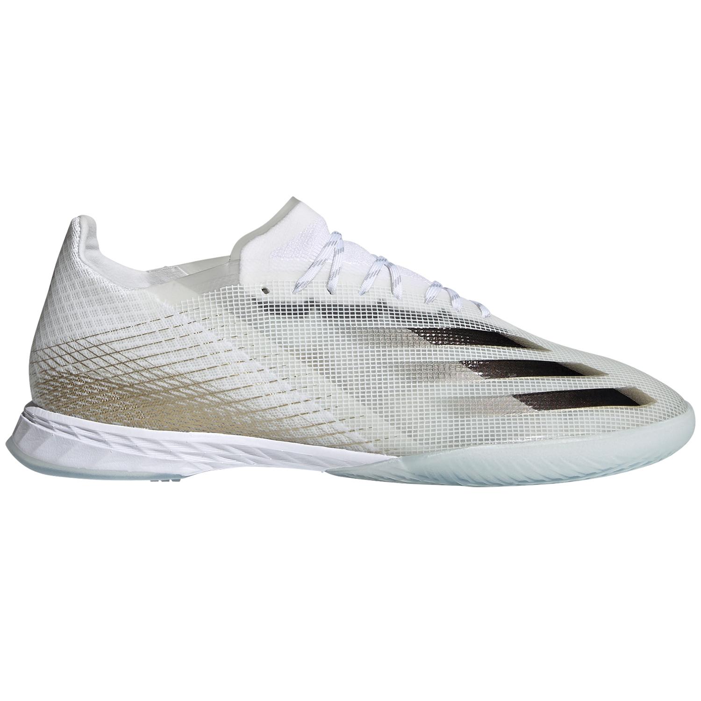 adidas X Ghosted.1 IN Fußball Hallenschuhe weiß gold EG8171