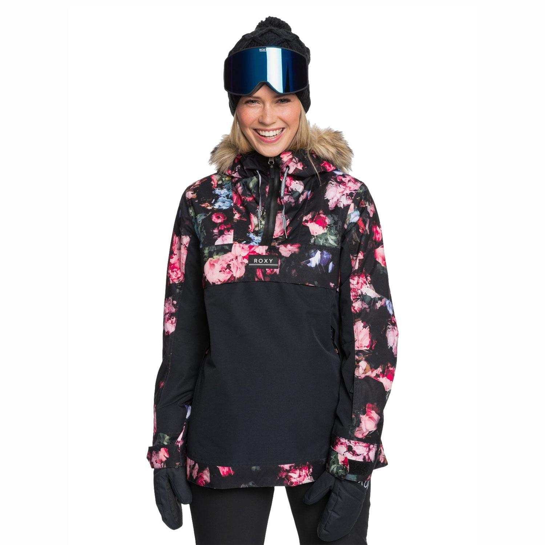 Roxy Shelter Damen Ski- und Snowboard Anorak schwarz bunt