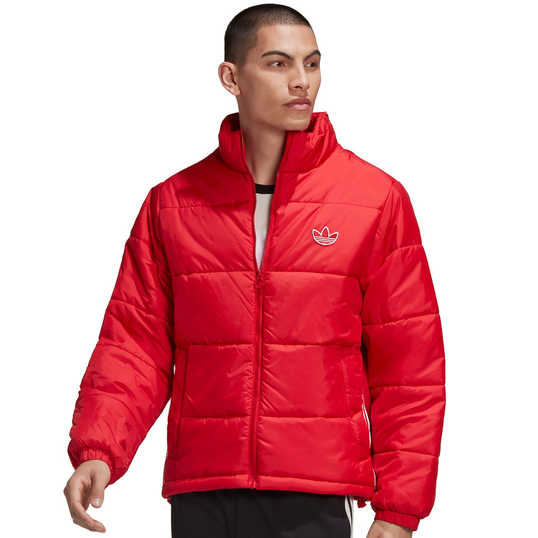 adidas Originals Padded Stand Collar Puffer Jacke rot
