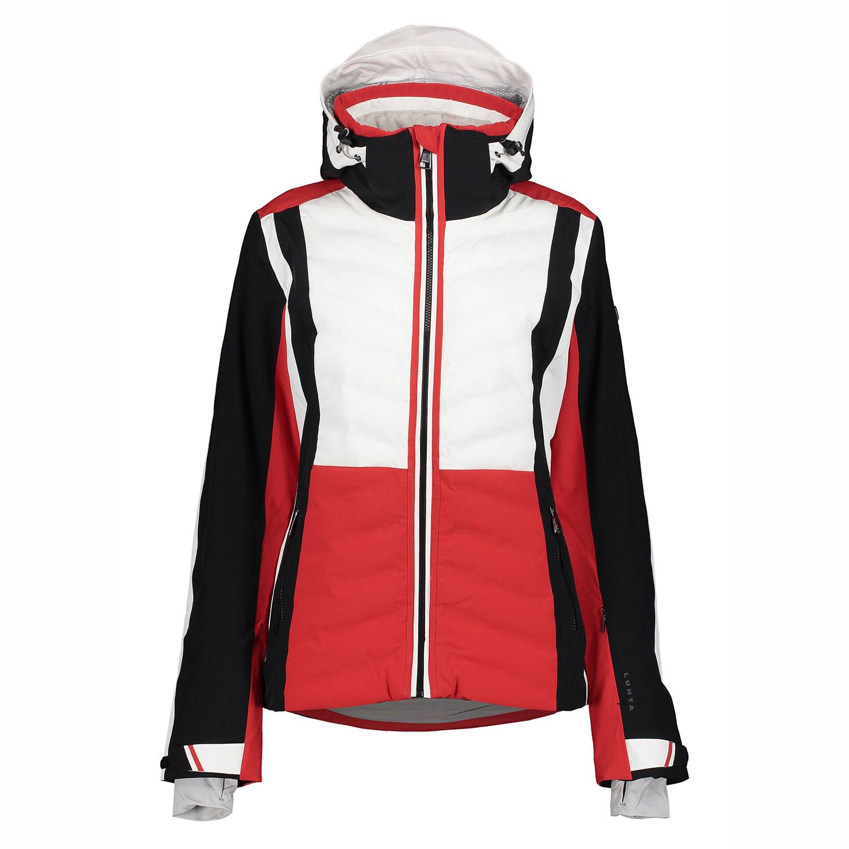 Luhta Emkarby Damen Skijacke rot schwarz weiß 6 36408 535L 650