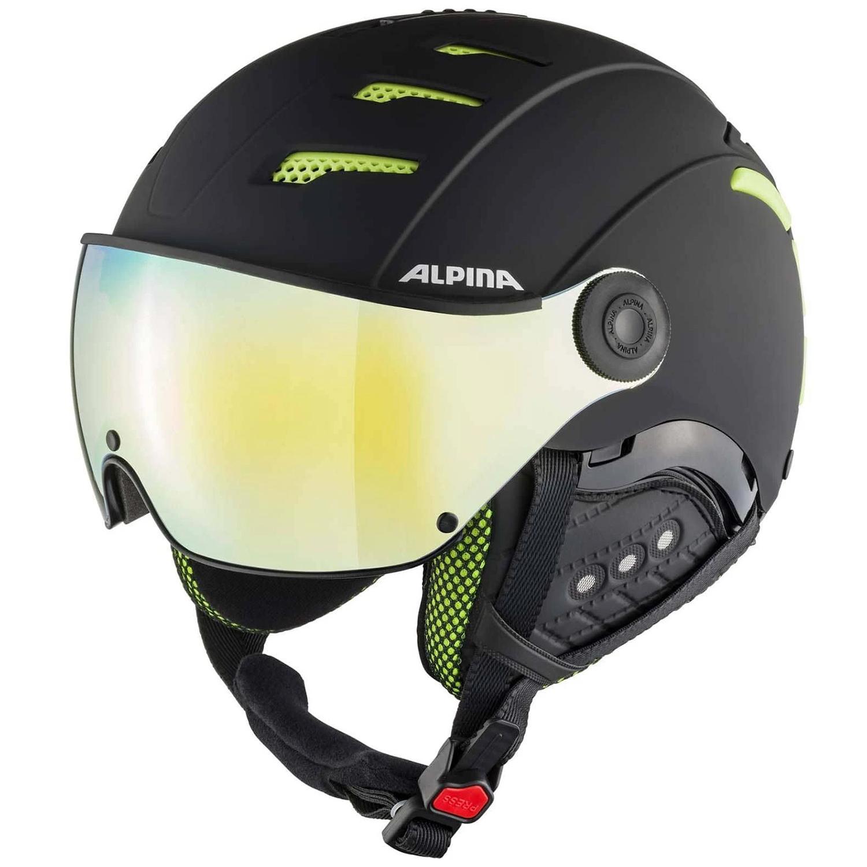 Alpina Jump 2.0 HM S2 Skihelm mit Visier black lime matt 55 - 58 cm