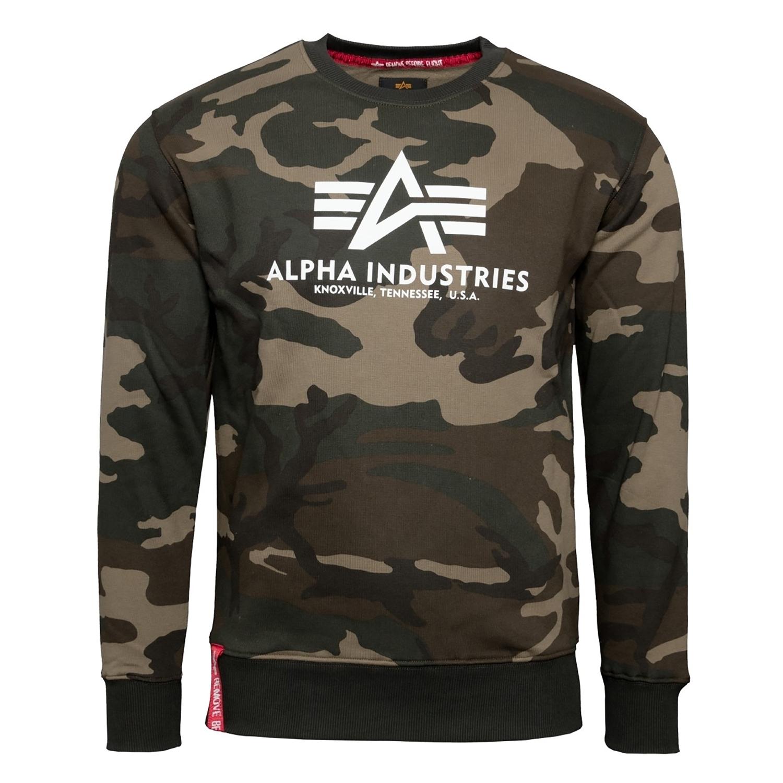 Alpha Industries Herren Basic Sweater wdl camo 178302C/408