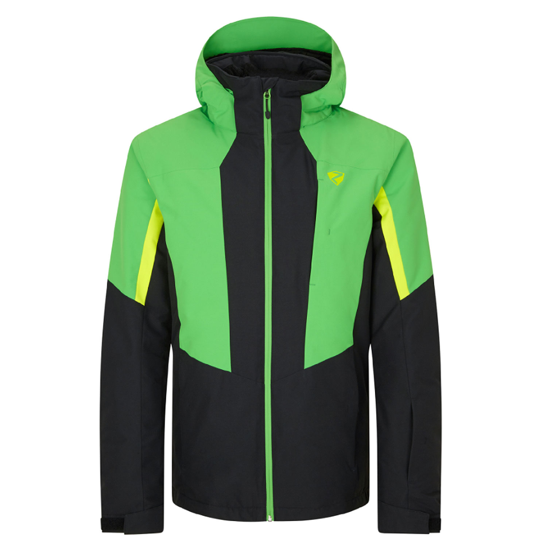 Ziener Parl Herren Ski Snowboardjacke schwarz grün 206210 02