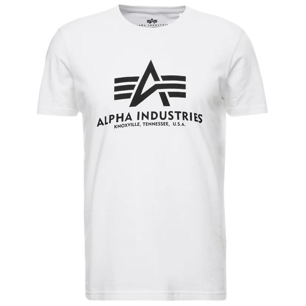 Alpha Industries Basic T-Shirt weiß schwarz 100501 09