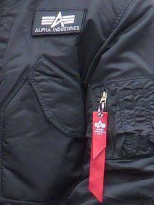 Alpha Industries Men's CWU 45 Jacke schwarz – Bild 4