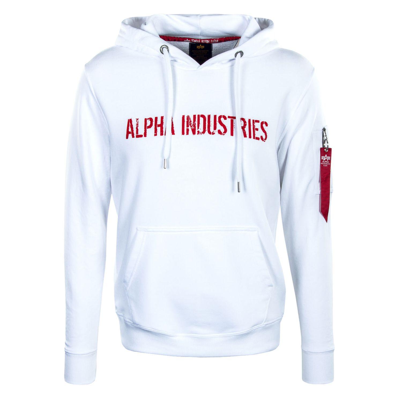 Alpha Industries RBF Moto Hoody weiß rot