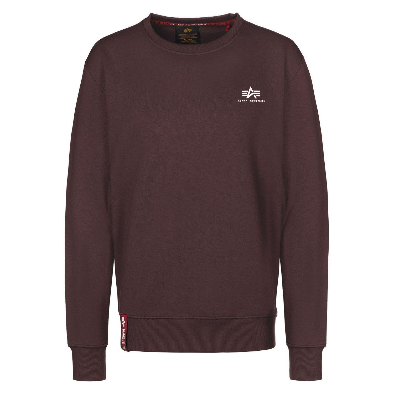 Alpha Industries Basic Sweater Small Logo weinrot 188307 21
