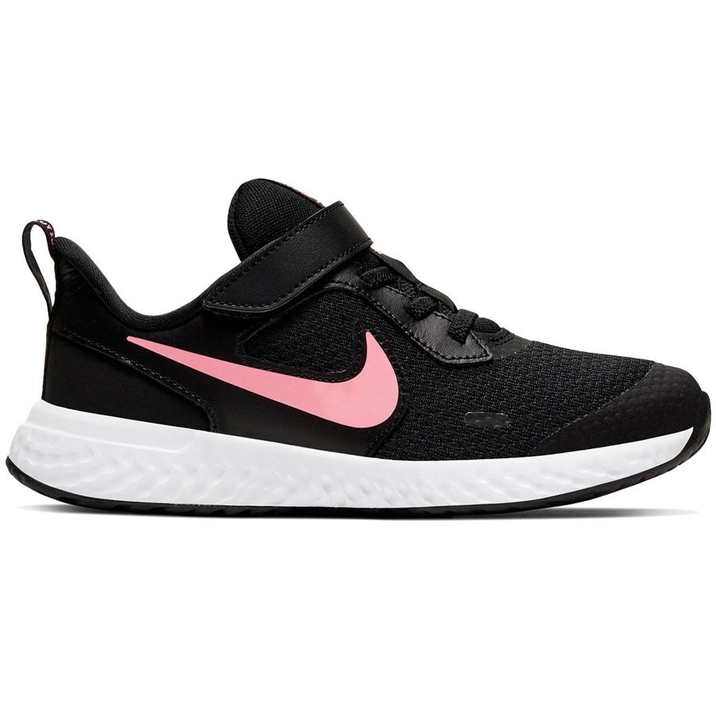 Nike Revolution 5 PSV Running Sneaker schwarz weiß rosa BQ5672 002