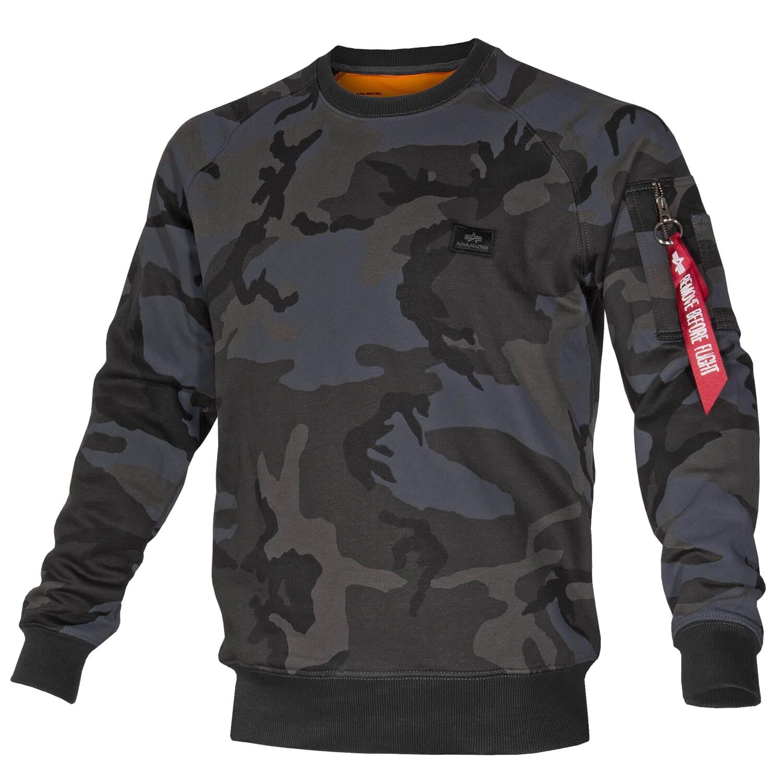 Alpha Industries X-Fit Sweat Pullover black camo