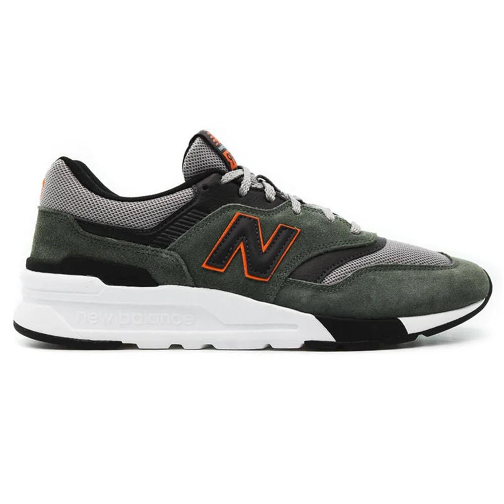 New Balance CM997HVS Sneaker oliv schwarz orange