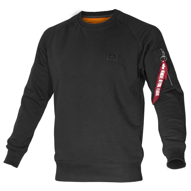 Alpha Industries Herren X-Fit Sweat Pullover schwarz