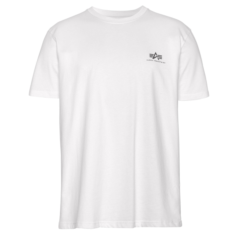 Alpha Industries Shirt Herren Basic T Small Logo weiß