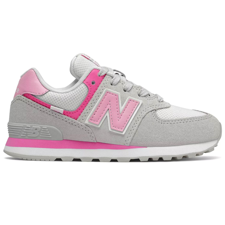 New Balance GC574SA2 Kinder Sneaker grau weiß pink