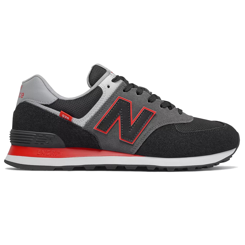 New Balance ML574SM2 Sneaker Herren schwarz grau rot