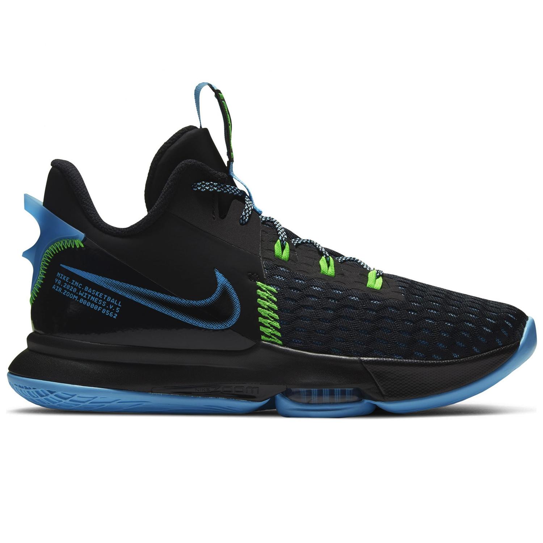 Nike Lebron Witness V Basketballschuhe schwarz blau grün