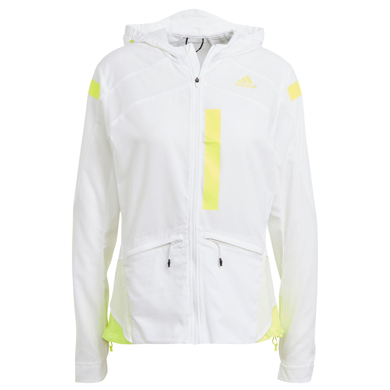 adidas Performance Marathon Jacket Damen weiß gelb GN2725