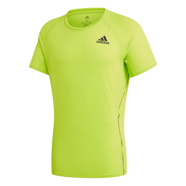 adidas Adi Runner Tee Herren Funktionsshirt signal green GC6717
