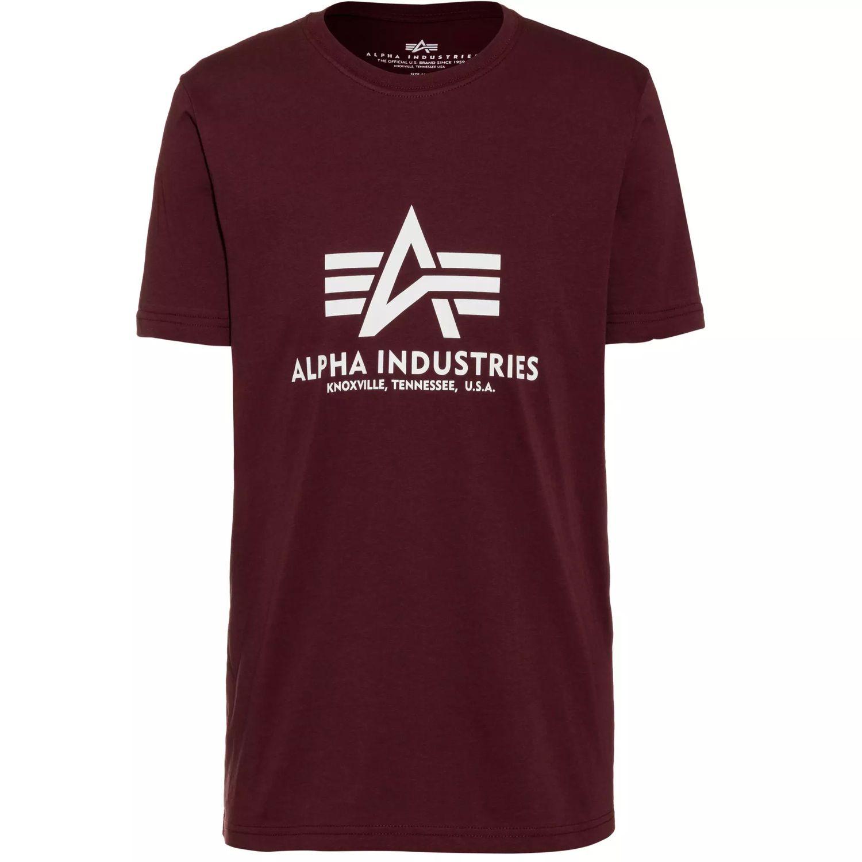 Alpha Industries Basic T-Shirt deep maroon