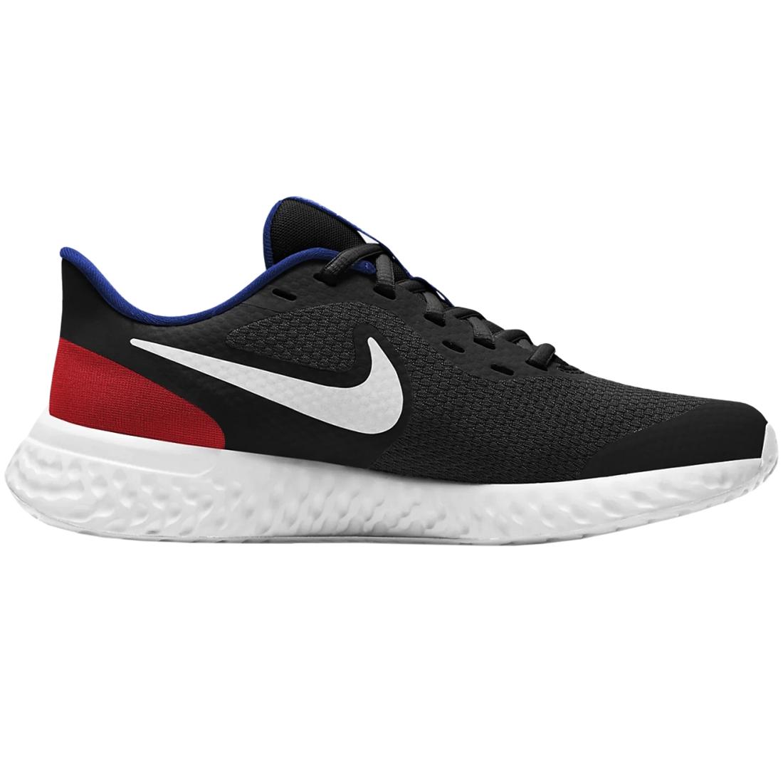 Nike Revolution 5 GS Running Sneaker schwarz blau rot