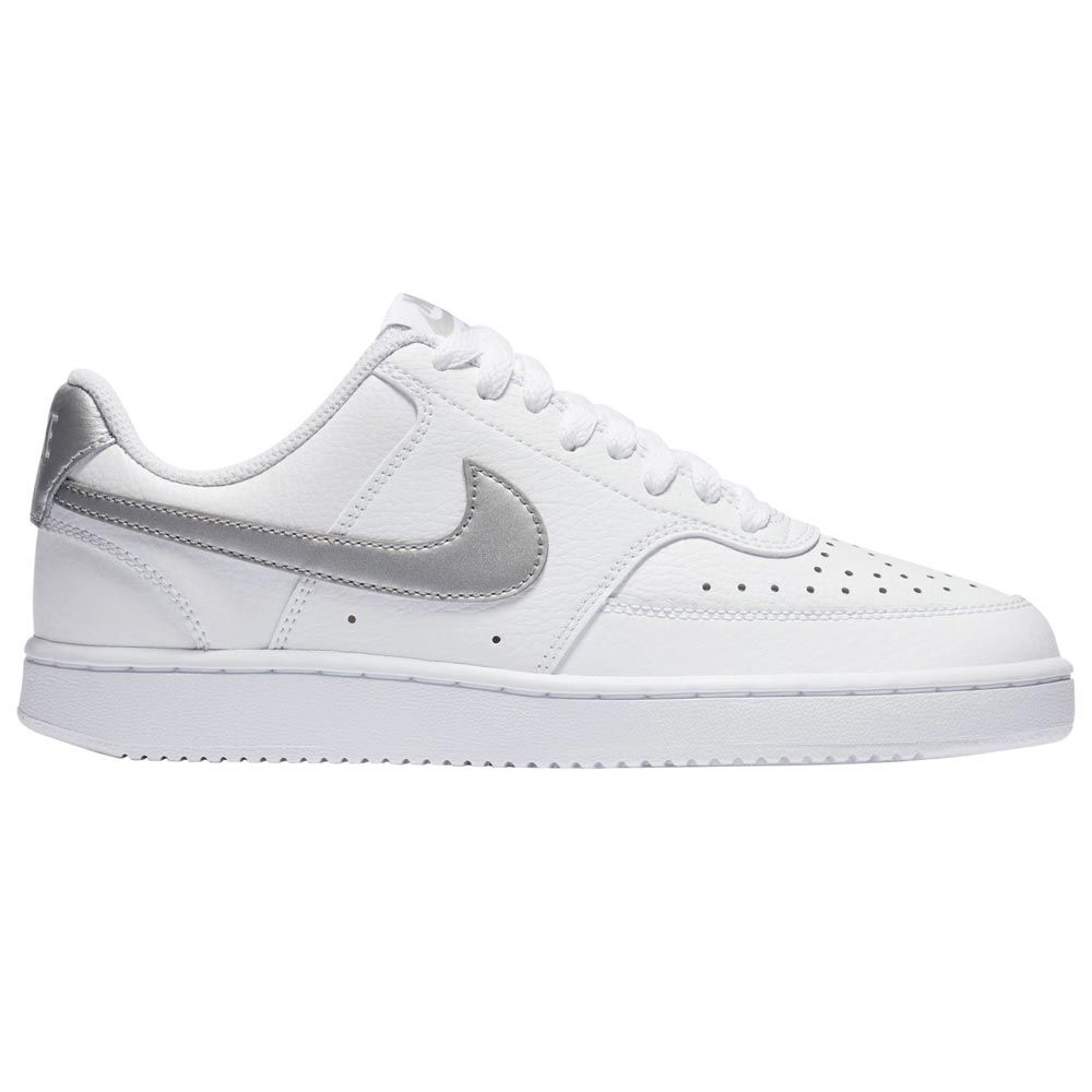 Nike WMNS Court Vision Low Sneaker weiß silber CD5434 111