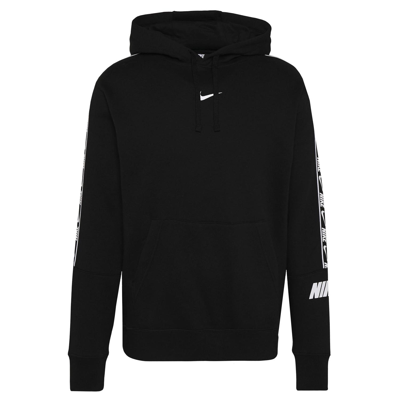 Nike NSW Hoodie Repeat Fleece Herren schwarz weiß