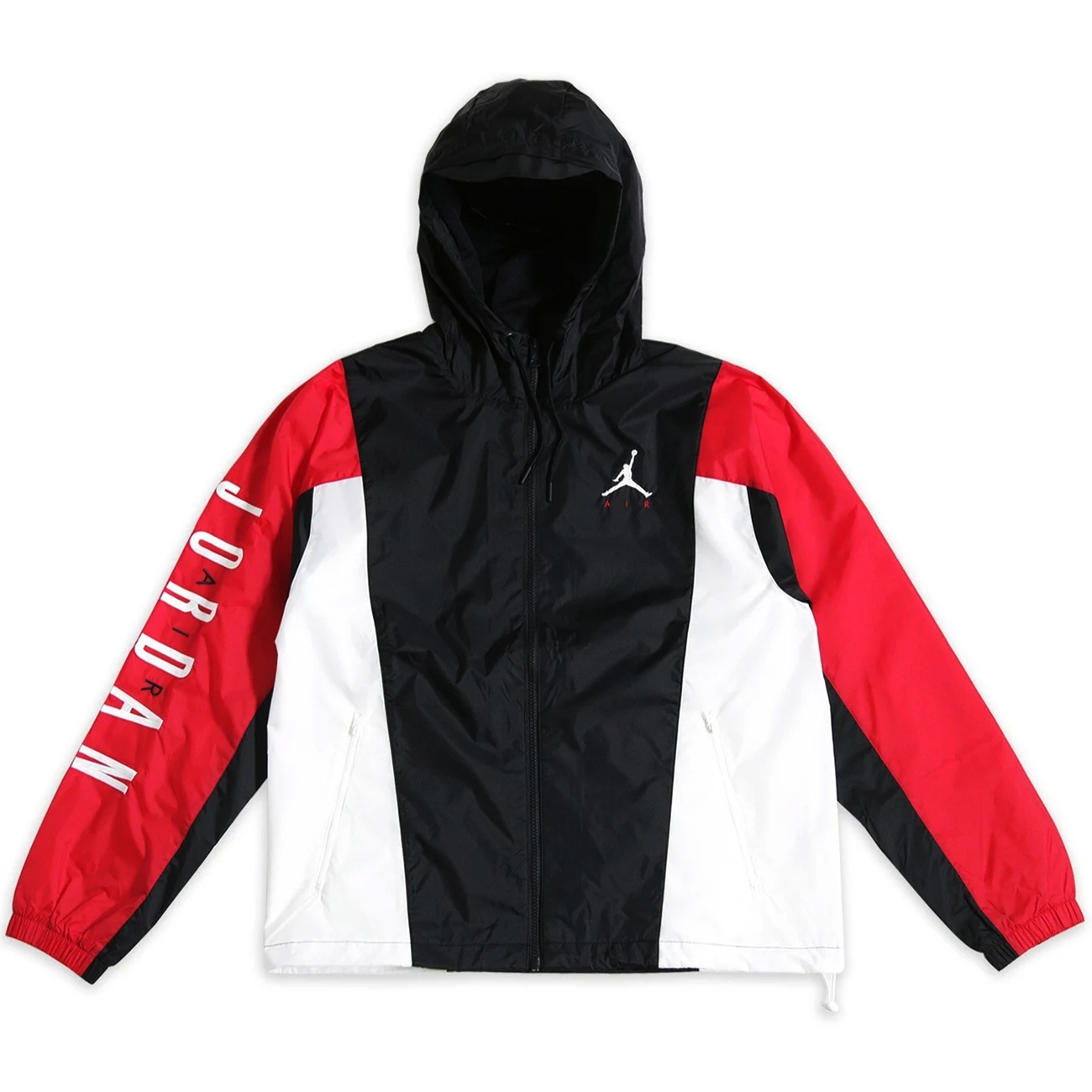 Nike Air Jordan Herren Windbreaker schwarz rot weiß