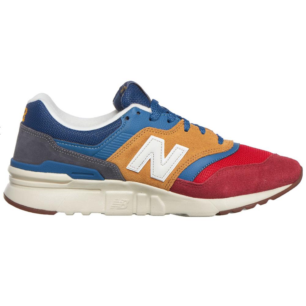 New Balance CM997HVT Herren Sneaker blau rot gelb