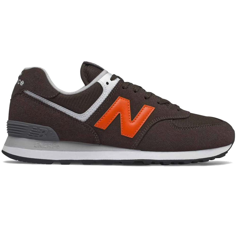 New Balance ML574HU2 Sneaker Herren braun orange