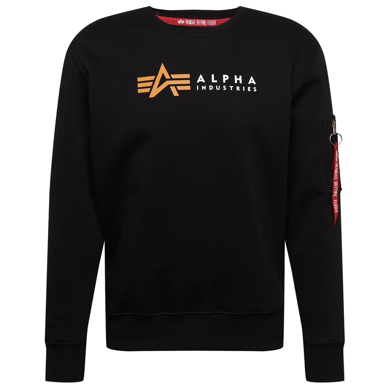 Alpha Industries Label Sweater Herren schwarz