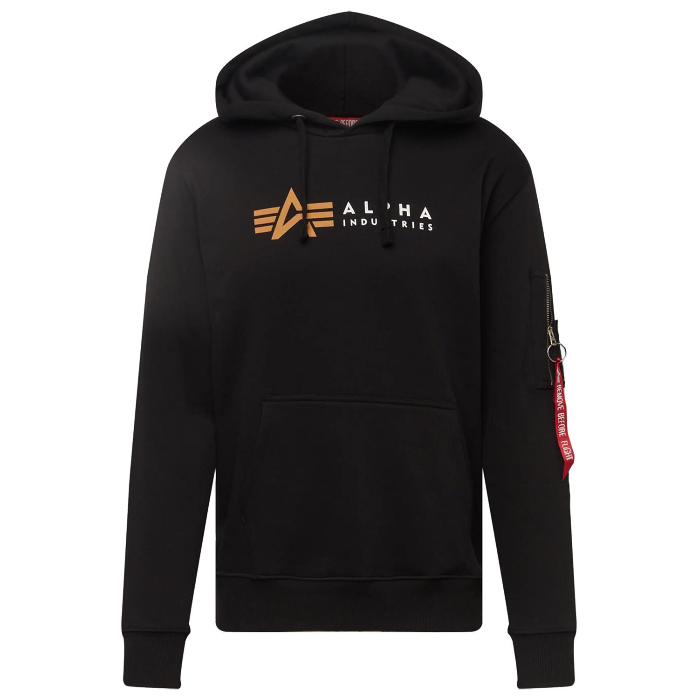 Alpha Industries Label Hoody Herren schwarz 118331 03