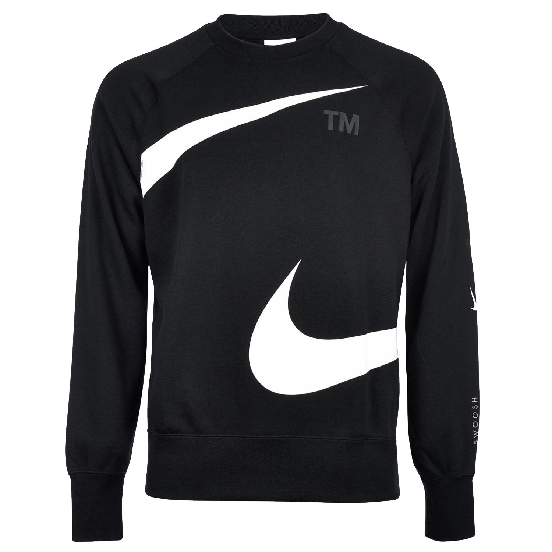 Nike NSW Double Swoosh Sweatshirt Herren schwarz weiß