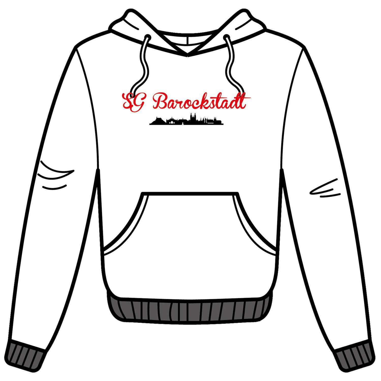 SG Barockstadt Fan-Hoody kursiv weiß rot
