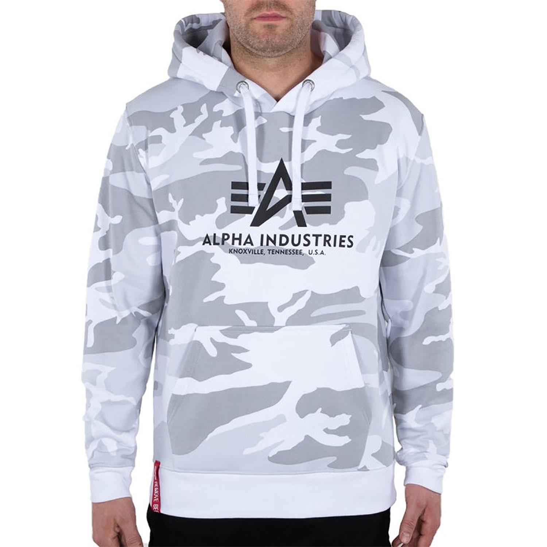 Alpha Industries Basic Hoody weiß grau camo 178312C/385