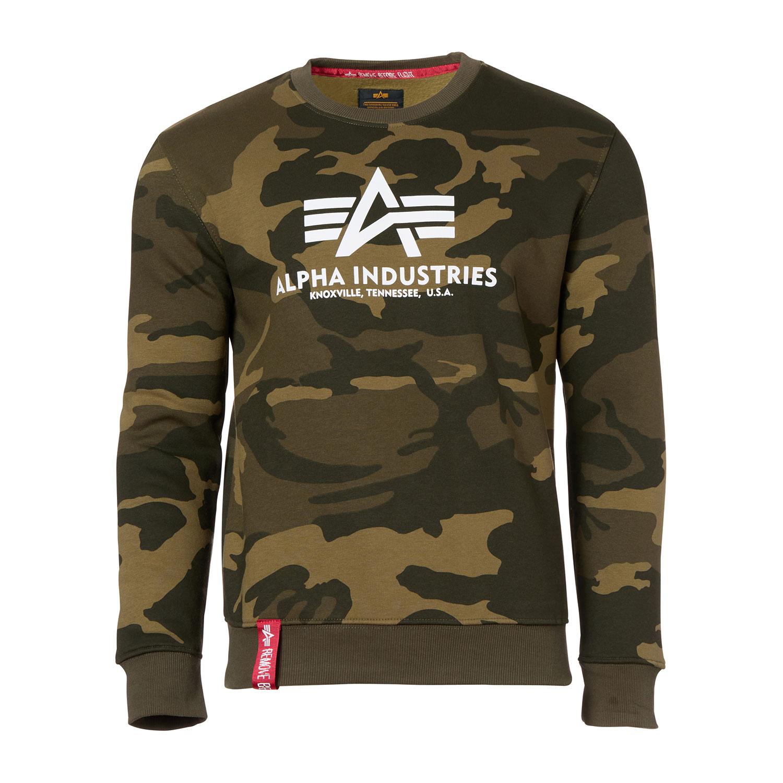 Alpha Industries Herren Basic Sweater olive camo 178302C/239