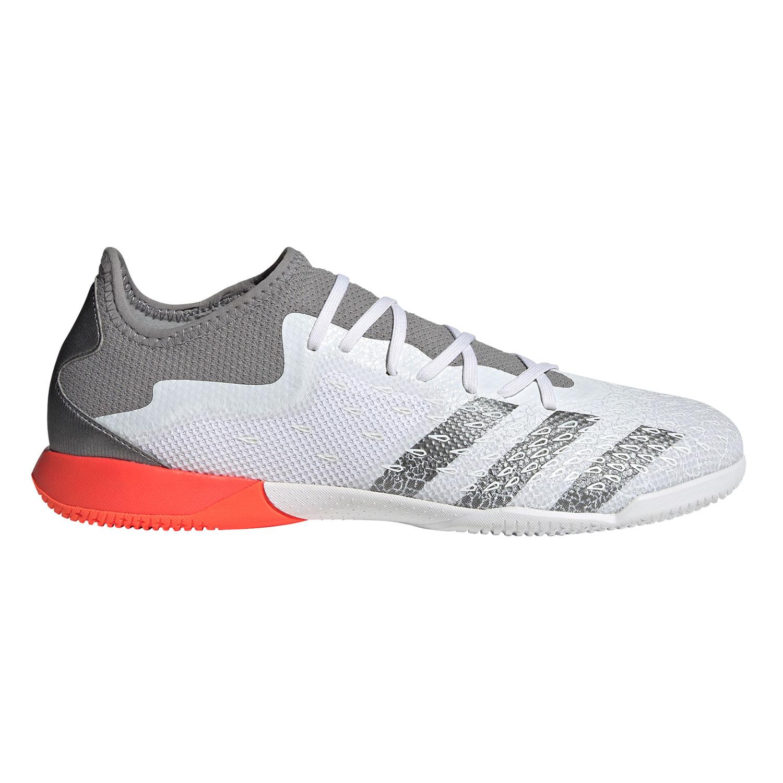 adidas Predator Freak .3 L IN Hallenschuhe weiß grau rot FY7820