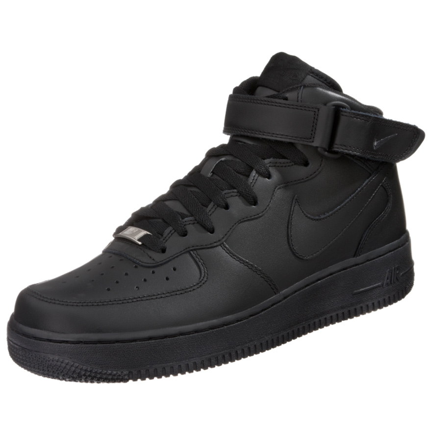 nike air force 1 mid 07 high top sneaker schwarz. Black Bedroom Furniture Sets. Home Design Ideas