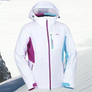 Kjus Ladies Formula Jacket Skijacke Damen weiß hellblau pink 2012/2013 – Bild 2