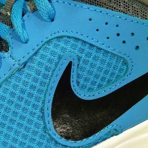 Nike Flex Experience (GS) Laufschuh Kinder blau grau – Bild 3