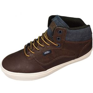 Vans Bedford Herren High-Top Sneaker braun Leder – Bild 1