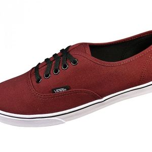 Vans Authentic Lo Pro Damensneaker weinrot weiss – Bild 2