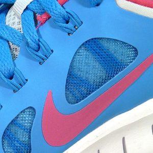 Nike Free 5.0 (GS) Kinder Running Freizeitschuh hellblau grau – Bild 3