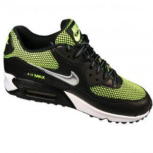 Nike Air Max 90 LE (GS) Kinderschuh Sneaker schwarz neon grün – Bild 2
