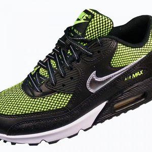 Nike Air Max 90 LE (GS) Kinderschuh Sneaker schwarz neon grün – Bild 3