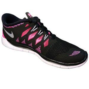 Nike Free 5.0 (GS) Kinder Running Freizeitschuh schwarz/pink – Bild 2