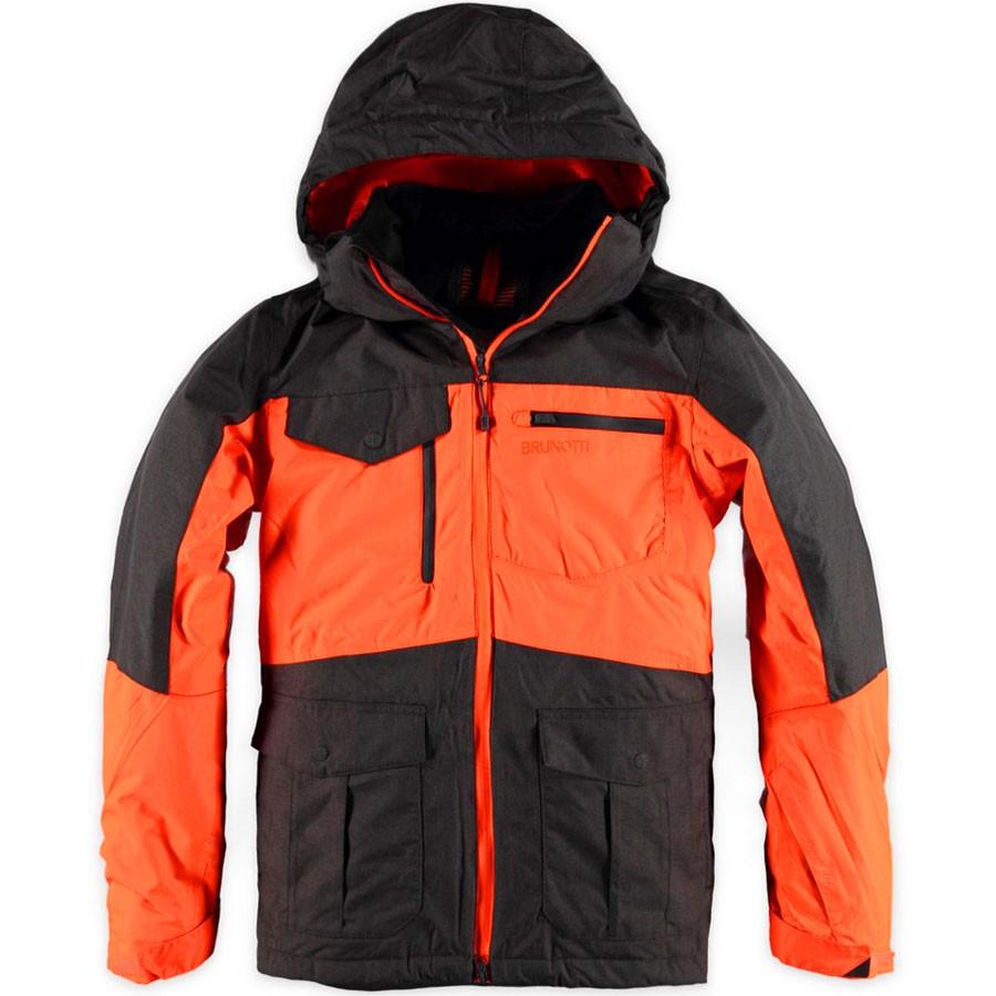 Brunotti Mitama Men Herren Ski- Snowboardjacke grau orange