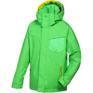 Quiksilver Mission Plain Youth Jacket Kinder Ski- Snowboardjacke grün – Bild 2