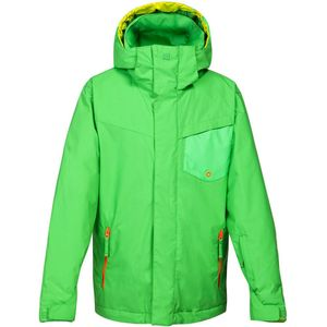 Quiksilver Mission Plain Youth Jacket Kinder Ski- Snowboardjacke grün – Bild 1