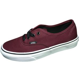 Vans Authentic Sneaker weinrot schwarz port royale – Bild 1