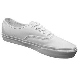 Vans Authentic Leinen Sneaker weiß true white – Bild 2