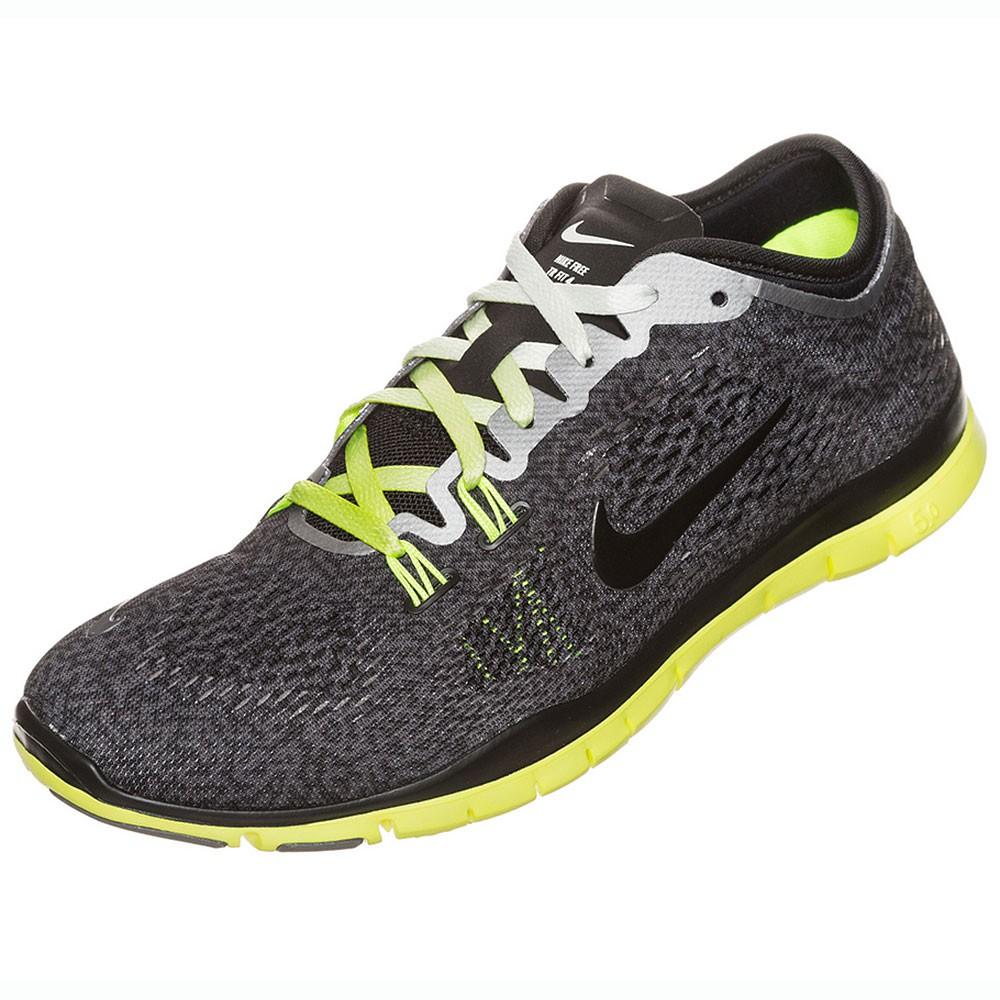 Nike WMNS Free 5.0 TR Fit 4 Print Damen Sportschuh schwarz grau